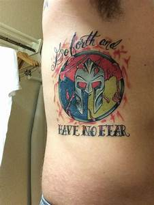 My New Spartan Trifecta Tattoo Done On My Rib Cage