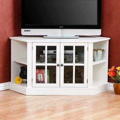 small corner tv cabinet furniture white corner tv stand with glass media cabinet