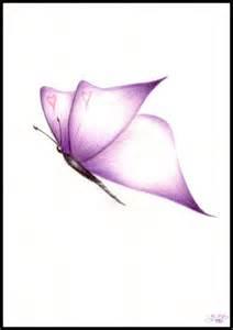 Purple Butterflies Drawings