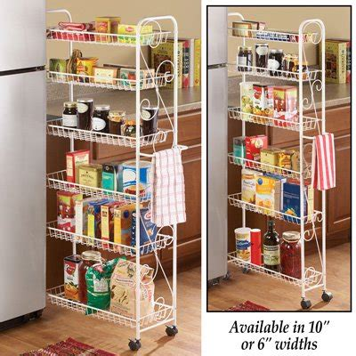 Slim Pantry Slim Rolling Pantry 6 Tier Shelf 10 Quot Walmart