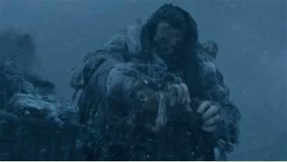 Thrones Giant Wun Snow Jon Gifs Walkers