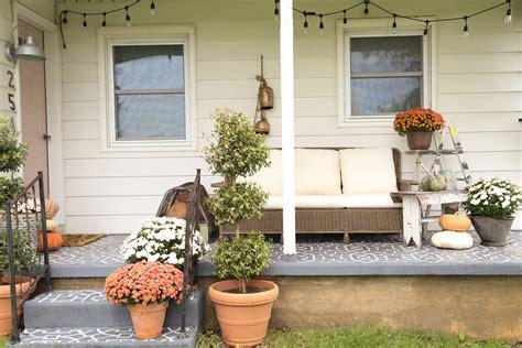 moulding front porch cozy cozy farmhouse front porch fall front porch decor