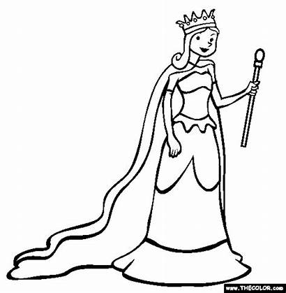 Queen Coloring Pages King Queens Clipart Clipartpanda