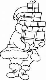 Coloring Coloriage Santa Gratuit Pere Noel Claus Colorear Imprimer Navidad Presents Kerst Liedjes Thanksgiving Dessins Regalos Kleurplaten Gives Cousin A4 sketch template