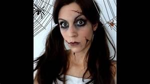 Maquillage D Halloween Pour Fille : maquillage d 39 halloween poup e d moniaque youtube ~ Melissatoandfro.com Idées de Décoration
