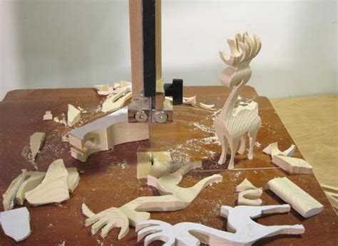 cutting    reindeer   bandsaw