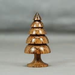 dollhouse miniature wood turning hazelnut dymondwood christmas tree christmas trees