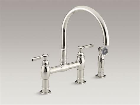 best sink faucets kitchen polished nickel bridge kitchen faucet besto 4594