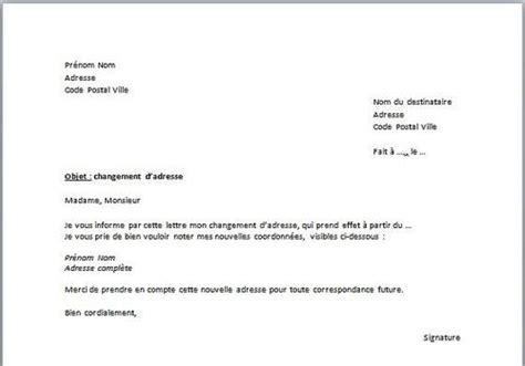 modele lettre depart retraite edf t 233 l 233 charger mod 232 le de d 233 claration de changement d adresse
