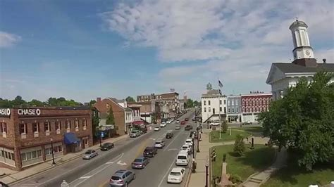 Aerial shots of downtown Richmond, Kentucky - YouTube