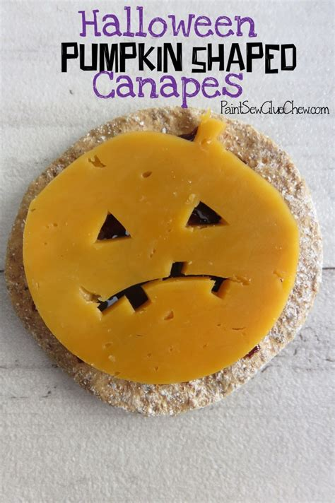 canapes pumpkin shaped cheese and crackers