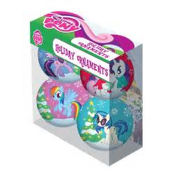 my little pony characters holiday ball ornament 4 pack ripple junction my little pony