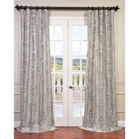 embroidered curtain panels exclusive fabrics ankara embroidered faux silk taffeta