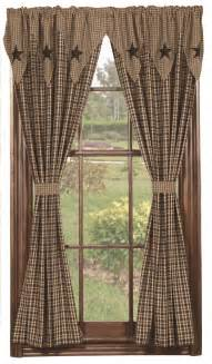 Homespun Curtains by Bathroom Decor Primitive Home Decors