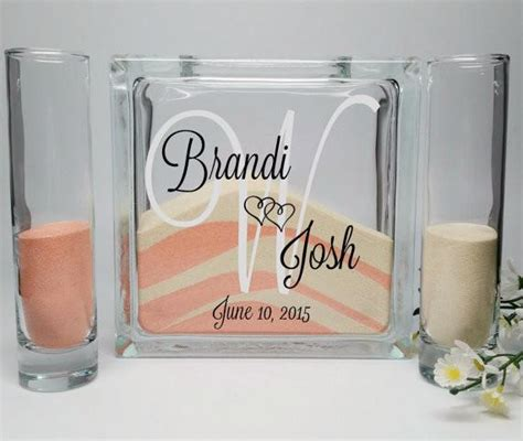Unity Sand Vases With Lids by Unity Sand Ceremony Set With Lid Background Monogram