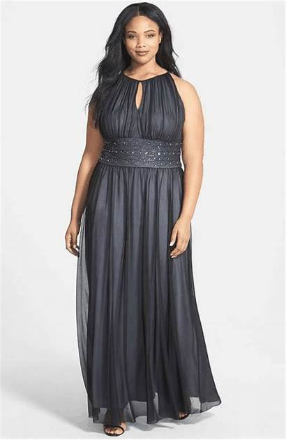 Dresses Formal Curvy Gown Short Wantering Keyhole