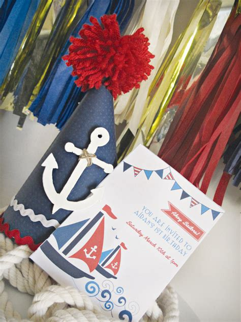 A Red, White And Blue Nautical 1st Birthday Party Party