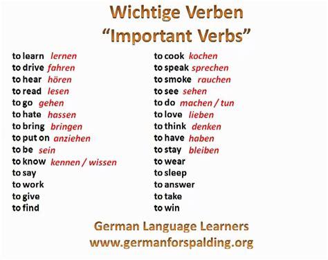 Wichtige Verben  Important Verbs In German  Wwwgermanforspaldingorg Phim22com