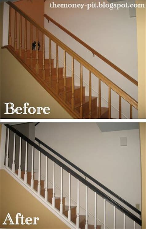 oak banister makeover redo your staircase using this simple tutorial