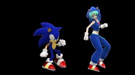 Mmd Hatsune Miku Sonic The Hedgehog Skrillex
