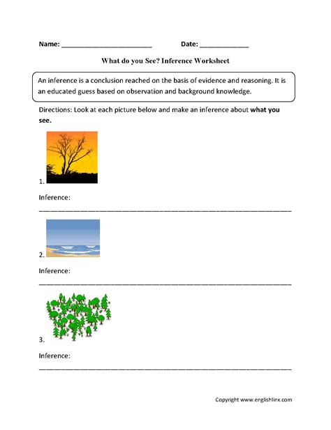 inference worksheets what do you see inference worksheets