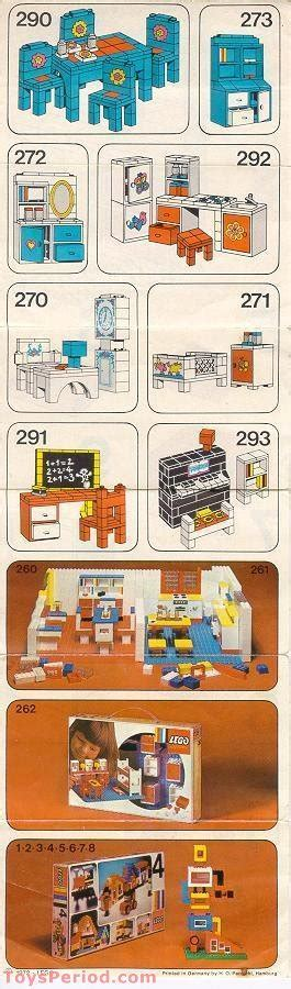 LEGO 292 Kitchen Sink and Cupboards Set Parts Inventory