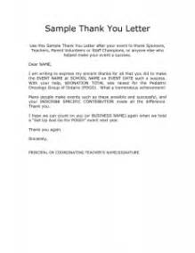 sample thank you letter to teacher from parent