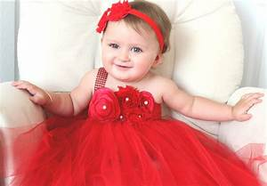 beautiful red satin shabby chic flower tutu dress for baby With robe rouge bebe