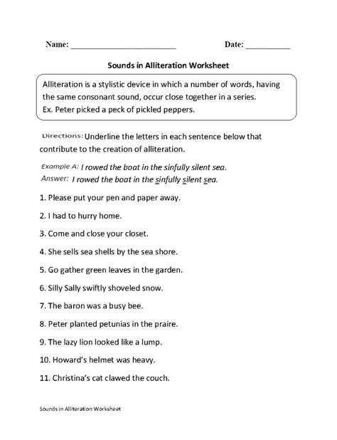 17 Best Images About Alliteration On Pinterest  Crafting, Fun Poems And Anchor Charts