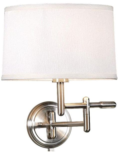 white pivoter swing arm wall l light home bedroom