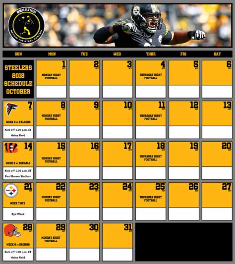 steelers  training camp schedule  regular season