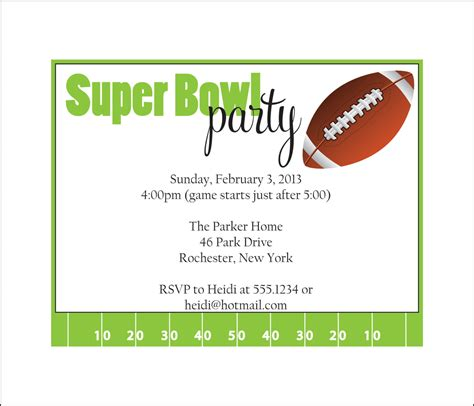 superbowl invitations super bowl party invitation set of 10 by simplystedinvites