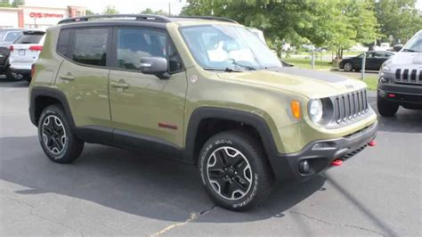 green jeep renegade new 2015 jeep renegade trailhawk commando green youtube