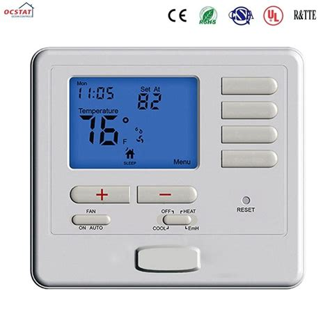 white color heat non programmable thermostat air conditioner heating room thermostat