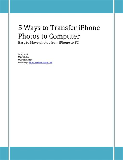5 Ways To Transfer Iphone Photos To Computer