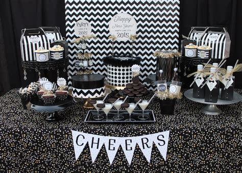 karas party ideas black white  years eve party