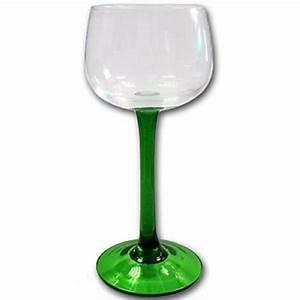 Verre A Vin Sans Pied : lot de 6 verres a vin d 39 alsace pied vert uni boeckling ~ Teatrodelosmanantiales.com Idées de Décoration