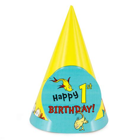 birthday hat dr seuss 1st birthday cone hats 8 ebay