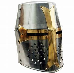 Crusader Great Helm - 18 Gauge Steel - HM-0902 by Armor Venue