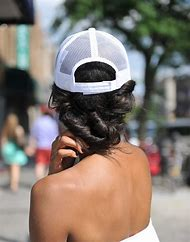 Baseball Hats with Hair Braids
