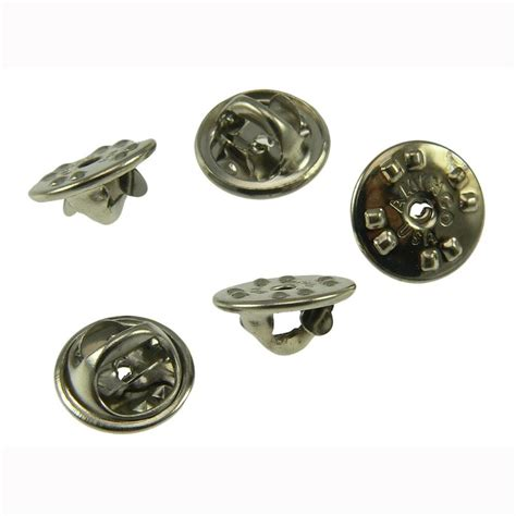 lot  chrome military pin backs clutch clasp findings biker military scouts ebay