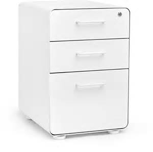 poppin white stow 3 drawer file cabinet shopstyle dressers