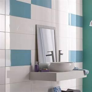 best faience salle de bain bleu ciel photos design With carrelage salle de bain bleu turquoise