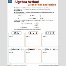 Find The Value Of The Expression  Worksheet Educationcom