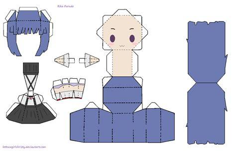 papercraft furude rika paper crafts anime paper paper toys