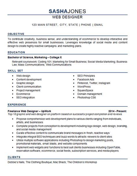 Web Design Resume by Web Designer Resume Exle Development Seo Social Media