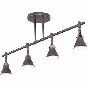 Quoizel track lights bronze four light ceiling