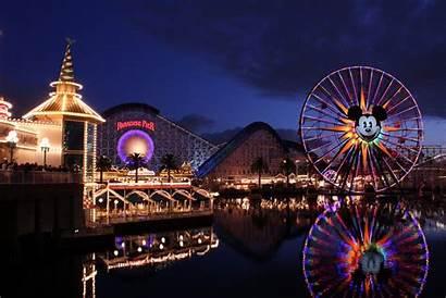 Disneyland Night Park Wheel Ferris Coaster Roller