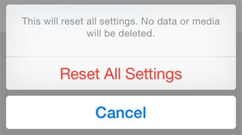 iphone reset all settings bug in ios 8 s reset all settings option also erases