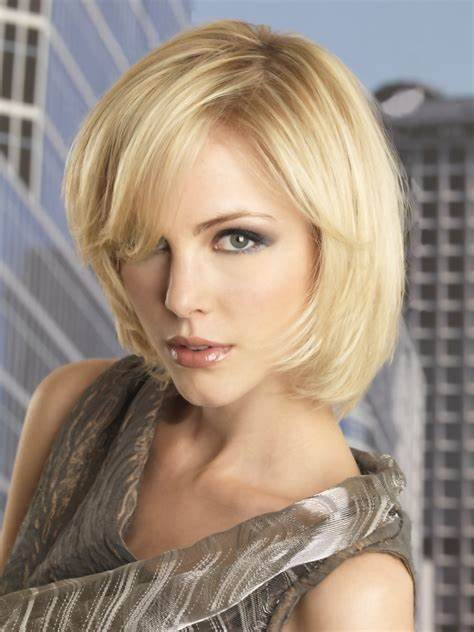 Medium length hairstyle with easy maintenance for